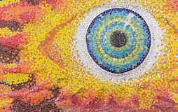 摘要,在templeWat的五颜六色的陶瓷砖样式取缔Rai 图库摄影