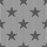 摘要,无缝的几何黑白样式,狭窄和宽线,星 向量例证