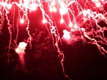 摘要,烟花,模糊的照片 抽象空白背景圣诞节黑暗的装饰设计模式红色的星形 与发光的火花的光,圣诞快乐贺卡 库存图片