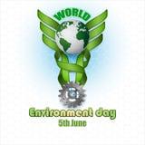 摘要,背景为世界环境日 免版税图库摄影