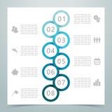 摘要8圈子丝带Infographic 2 图库摄影