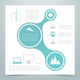 摘要3圈子链接Infographic 2 库存照片
