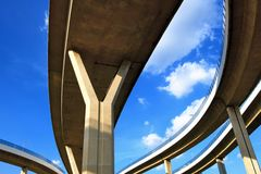 摘要结构桥梁 免版税库存图片