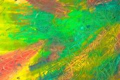摘要绘画  混合在帆布的油漆 免版税库存照片