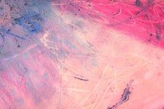 摘要绘画  混合在帆布的油漆 免版税图库摄影