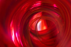 摘要-红色隧道 免版税库存图片