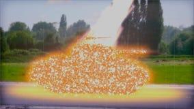 摧毁坦克(颜色)的死光 股票视频