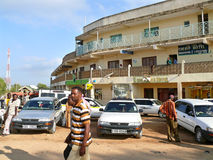 摩亚雷,埃塞俄比亚- 2008年11月27日:边界的村庄 免版税图库摄影