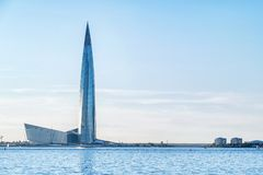 摩天大楼'Lakhta中心' 免版税库存图片