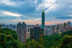 101摩天大楼台北 免版税库存图片