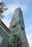 101摩天大楼台北 库存图片