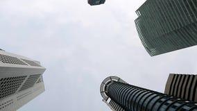 摩天大楼和天空上面  影视素材
