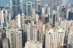 摩天大楼和居民住房在香港 免版税库存图片