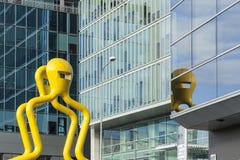 摩天大楼和新的办公室在维尔纽斯 库存照片