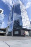 摩天大楼和新的办公室在维尔纽斯 库存图片