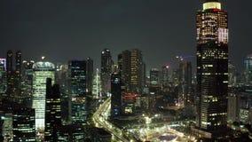 摩天大楼和美好的夜光 股票视频