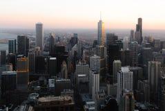摩天大楼和芝加哥地平线现代大厦  图库摄影