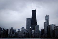 摩天大楼和芝加哥地平线现代大厦  免版税库存图片