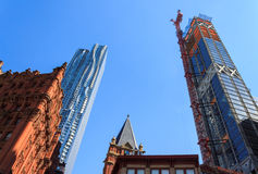 摩天大楼和建筑天空背景的 库存照片