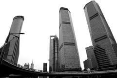 摩天大楼在上海,中国,亚洲 免版税库存图片