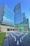 摩天大楼在北京中央地方,中国 免版税库存图片