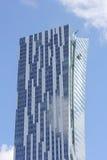 摩天大楼在华沙在波兰 免版税图库摄影