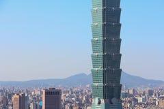 摩天大楼在台北,台湾 免版税库存图片