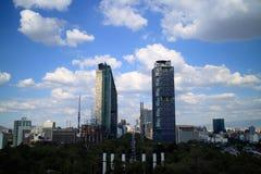 摩天大楼在墨西哥城 免版税库存图片