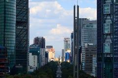 摩天大楼在墨西哥城 库存照片