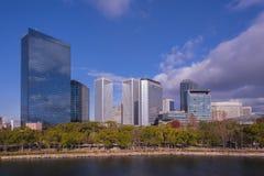 摩天大楼在大阪观看熔铸了公园大阪日本 免版税库存照片