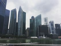 摩天大楼在新加坡的中心 库存图片