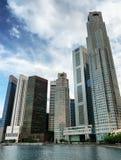 摩天大楼在新加坡财务地区  免版税库存图片
