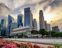 摩天大楼在新加坡财务地区  图库摄影