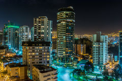 摩天大楼在晚上之前 免版税图库摄影