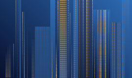 摩天大楼在晚上 库存图片