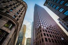 摩天大楼在波士顿,马萨诸塞 免版税图库摄影