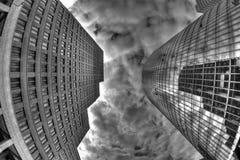 摩天大楼在波茨坦广场,柏林,德国 库存照片