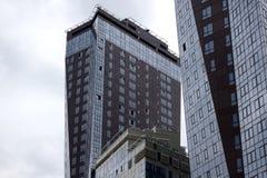 摩天大楼在特大的城市 图库摄影