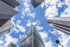 摩天大楼在芝加哥,密执安,美国 免版税库存图片
