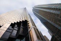 摩天大楼在街市多伦多,财政区 免版税库存照片