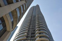 摩天大楼在街市多伦多 免版税库存照片