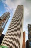 摩天大楼在街市芝加哥,伊利诺伊 库存照片