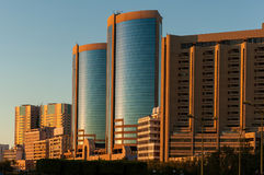 摩天大楼在迪拜 免版税库存图片