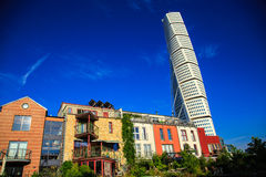 摩天大楼在马尔摩,瑞典 库存图片