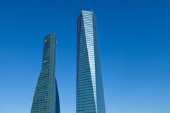 摩天大楼在马德里业务数据区 库存图片