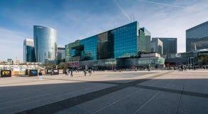摩天大楼在巴黎,法国西部的商业区  免版税库存图片