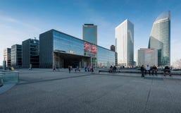 摩天大楼在巴黎,法国西部的商业区  免版税图库摄影