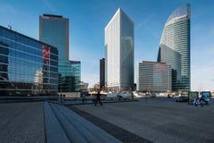 摩天大楼在巴黎,法国西部的商业区  库存图片