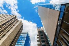 摩天大楼在Aldgate,一个城市病区在伦敦,英国 库存图片