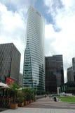 摩天大楼在La防御商业区对巴黎西部的  免版税库存照片